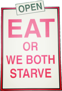 Eat or we both starve-old taylor
